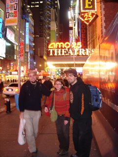 Petite photo du groupe à Time Square