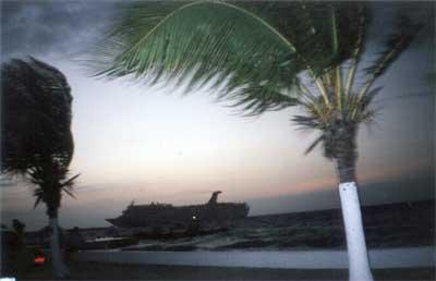 Bateau de croisière à Cozumel