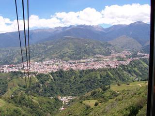 Vue de la ville de Mérida à partir du premier téléphérique