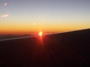 Un coucher de soleil directement au dessus du néant...