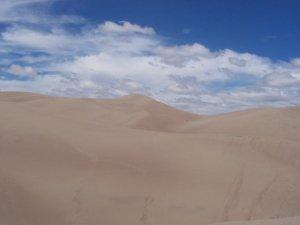 Une autre vue sur les dunes de sable
