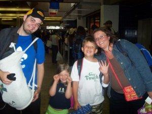 Nos amis voyageurs du Quebec! Sophie, Luc et Josee!