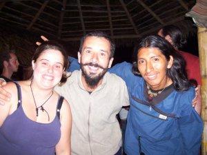 Marie-Ève, Damien un ami français et Oswaldo un ami péruvien!