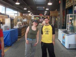 Moi et Marie au Marché Jean-Talon