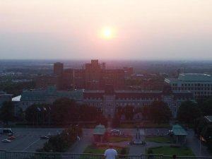 Coucher de soleil - Coucher de soleil sur le collège Notre-Dame