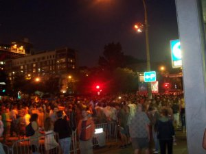 La foule au festival de Jazz de Montréal