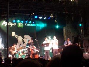 Une des plusieurs scènes du festival de Jazz